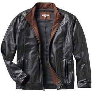 TravelSmith En Route Leather Jacket